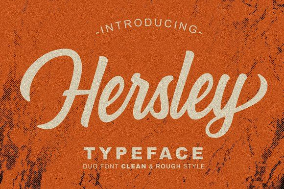 2999361  Like  Save  Hersley Typeface - Display - 1  Hersley Typeface - Display - 2  Hersley Typeface - Display - 3  Hersley Typeface - Display - 4  Hersley Typeface - Display - 5  Hersley Typeface - Display - 6  Hersley Typeface - Display - 7 Hersley Typeface are clean and rough style font. You can use Hersley for your logo design, poster design, T-Shirt design, branding, badge, name card, etc. #fonts #font #typeface #handwritten #script