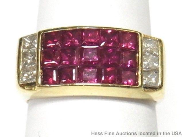 Seidengang 18k Gold Diamond Natural Ruby Ring Ladies Seiden Gang Designer Sz 6.5 #Seidengang #Fashion