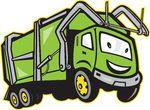 Garbage Rubbish Truck Cartoon -