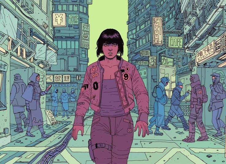 'This era of information and cyber-technology makes you question what is real' #ghostintheshell #collab Ana-Maria Iliescu