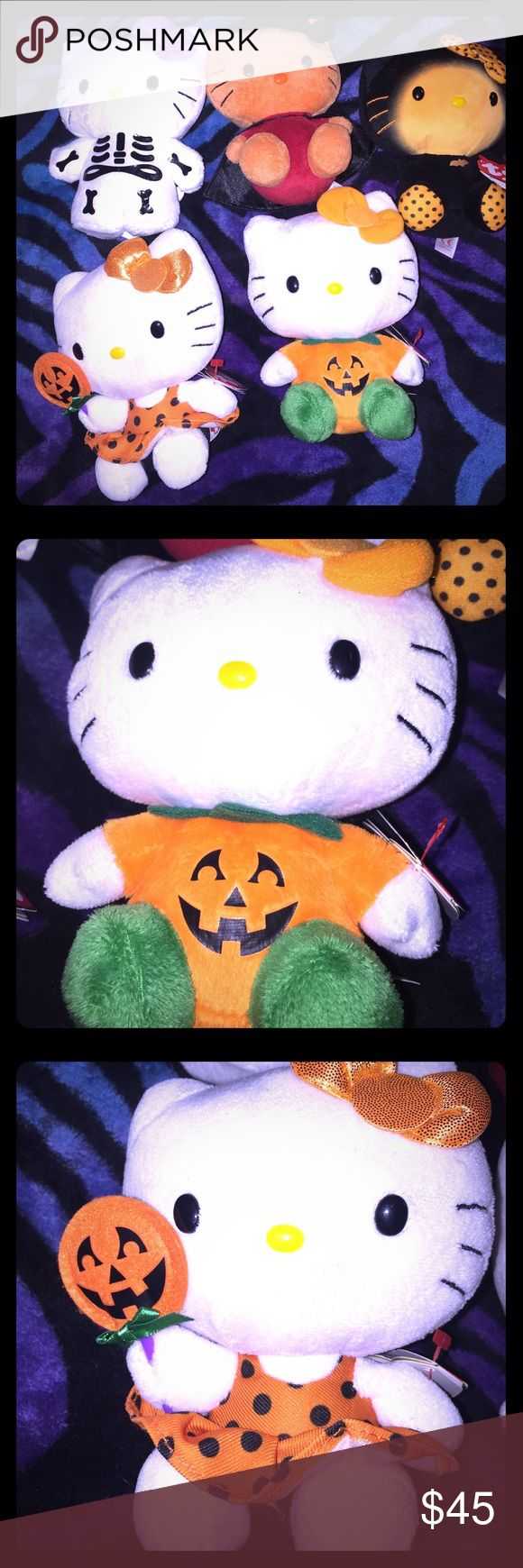 RARE Halloween hello kitty's Been in storage! Halloween rare bat kitty, pumpkin, witch and skull 💀 candy kitty. Smoke free home. Hello Kitty Other