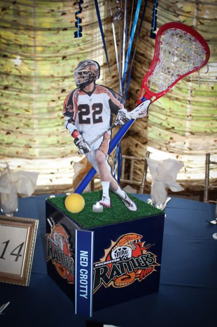 Sports Themed Centerpieces - Lacrosse Themed Centerpiece