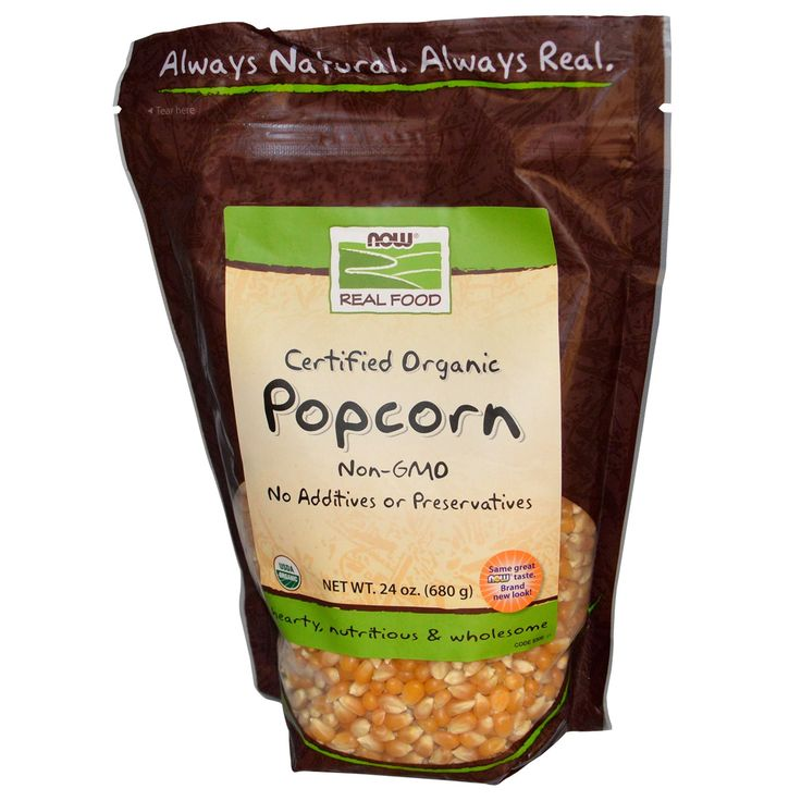 Now Foods, Real Food, Certified Organic Popcorn, 24 oz (680 g)