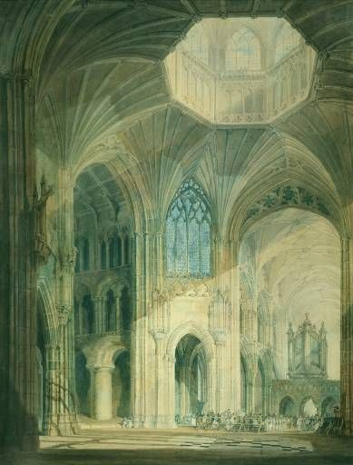 Joseph Mallord William Turner 'Ely Cathedral, South Transept', ?exhibited 1797 © Aberdeen Art Gallery and Museums