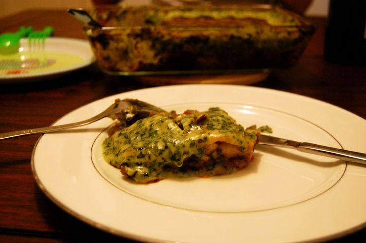 Heerlijke vega lasagne!