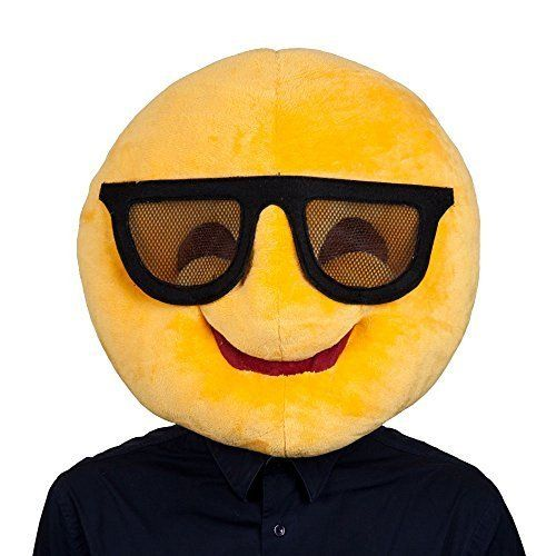 Cool Emoji Face Mask Mask for Novelty Funny Phone Masquerade Fancy Dress;Masks & Eye Masks;Includes: Plush mascot head only;Brand New;Fancy Dress Cool Emoji Face Mask Mask for Novelty Funny Phone Masquerade Fancy Dress