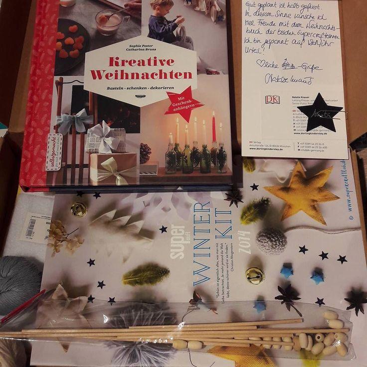 Vielen Dank #dkverlag #supercraft für die Chance das Buch vorab zu testen! <3 Und ein Weihnachtskit als Einstimmung! <3