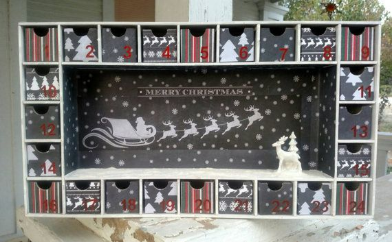 Chalkboard Christmas Advent Calendar by SmartArtbySusie on Etsy