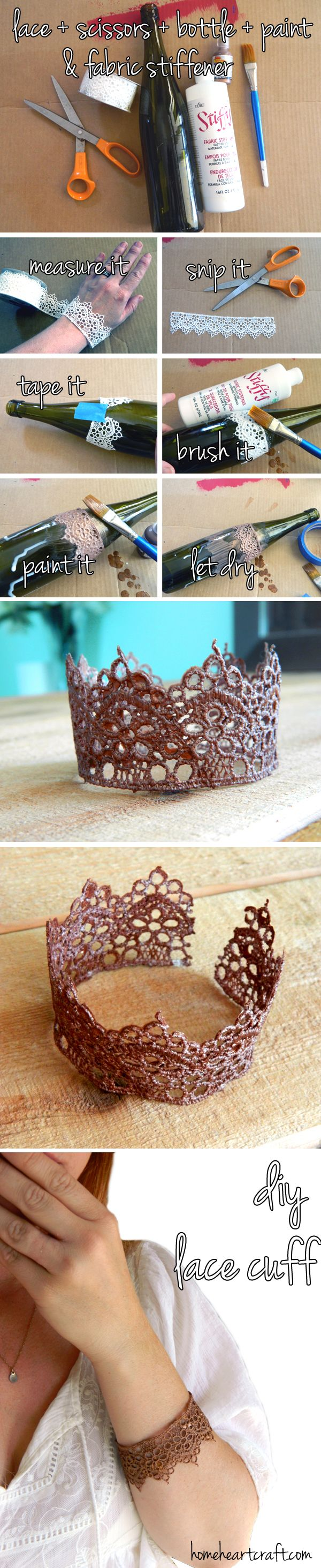 Crown bracelet.  Try this technique to make an actual crown for your little girl for dressup or for the top of a veil.