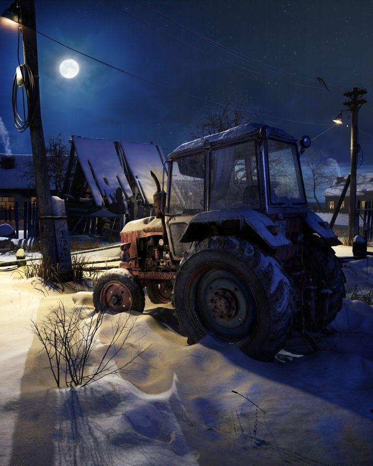 Старый трактор - Галерея 3ddd.ru