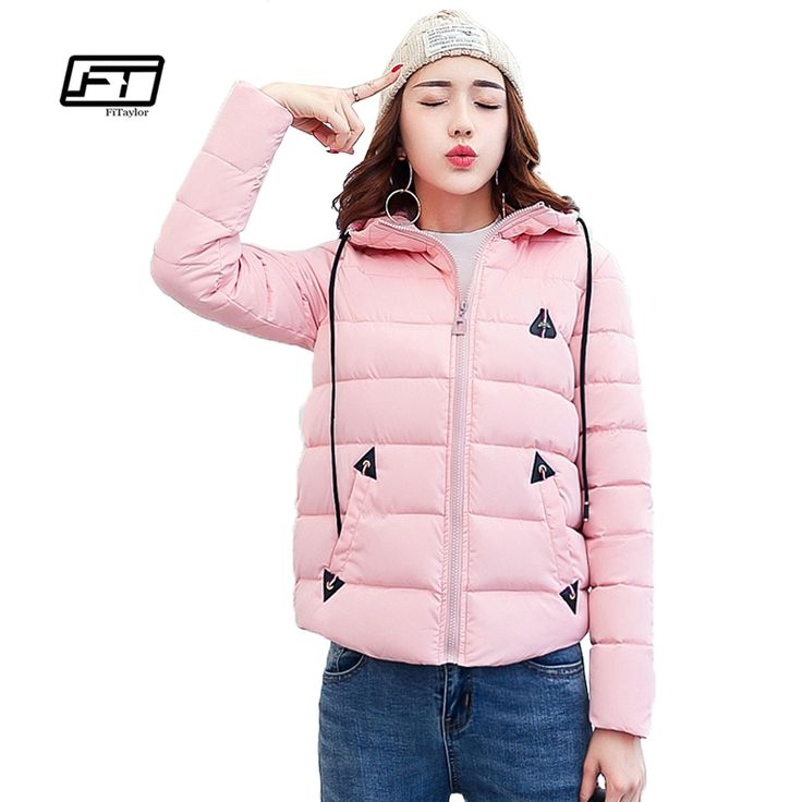 Fitaylor 2017 Winter New Short Bread Cotton Padded Parkas Fashion All-match Hooded Plus Size 3xl Loose Keep Warm Parkas Woman #Affiliate