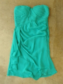 turquoise blue strapless dress