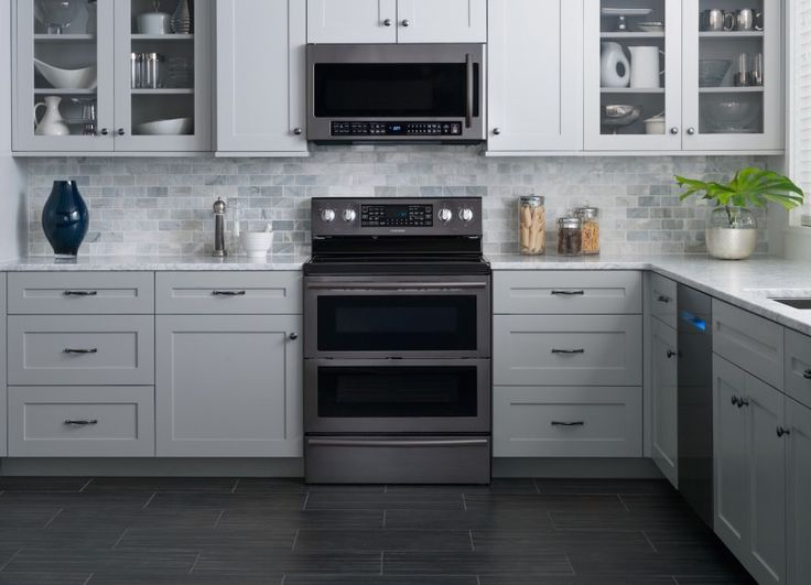 samsung releases all black stainless steel kitchen appliances - Stainless Steel Kitchen Ideas