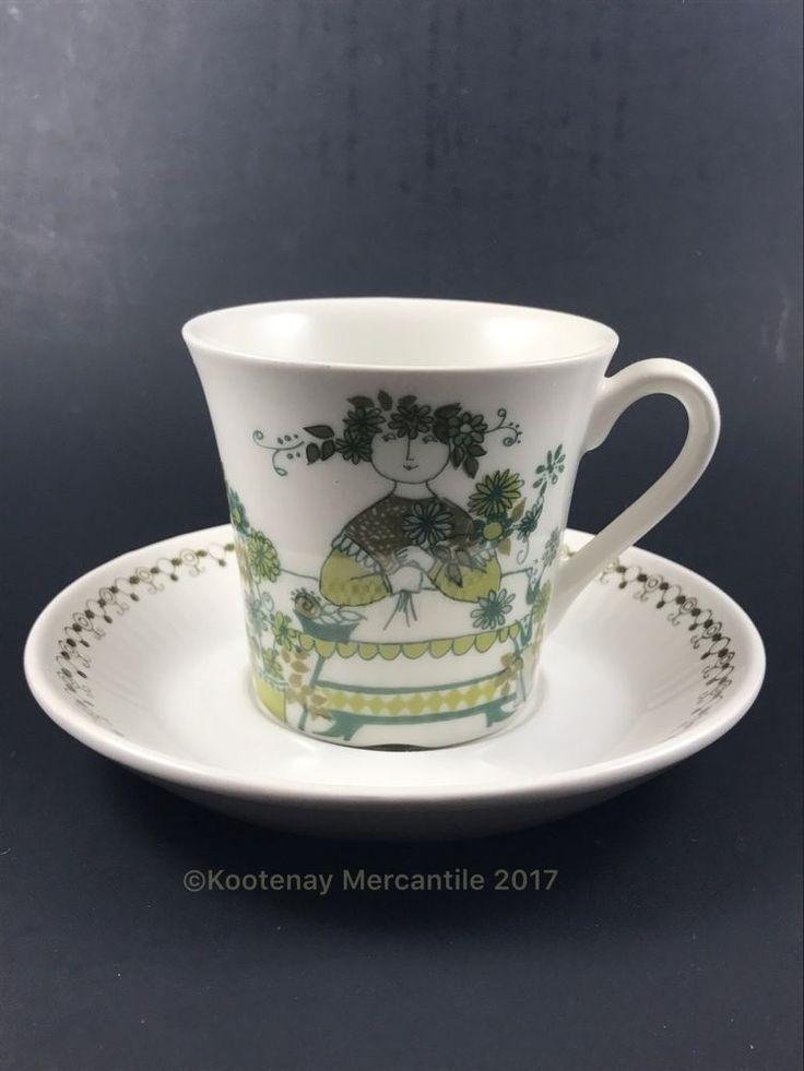 Figgjo Flint Small Mug / Cup With Saucer Turi Market Design Norway  | eBay
