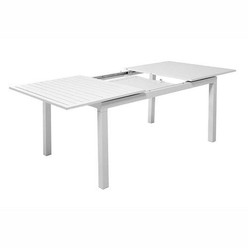 Tavolo allungabile bianco da giardino in alluminio L da 160 a 210 cm