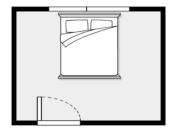 #1. A bed under window