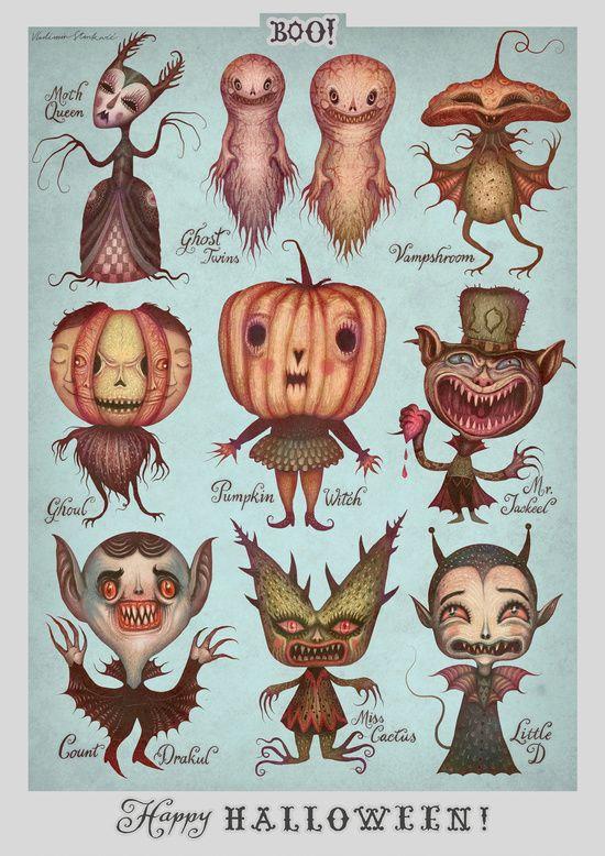ex0skeletal:    Happy Halloween! by Vladimir Stankovic