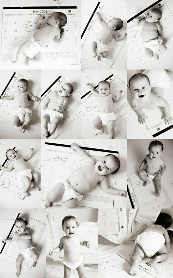 8 Best Monthly Baby Photo Ideas. Love the desk calendar one!