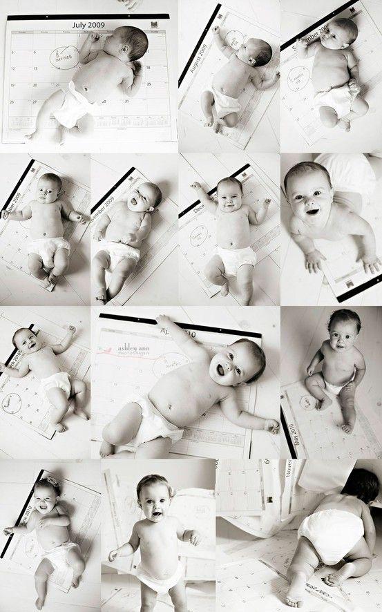 süße Ideen, um ein monatliches #Babyfoto zu machen
