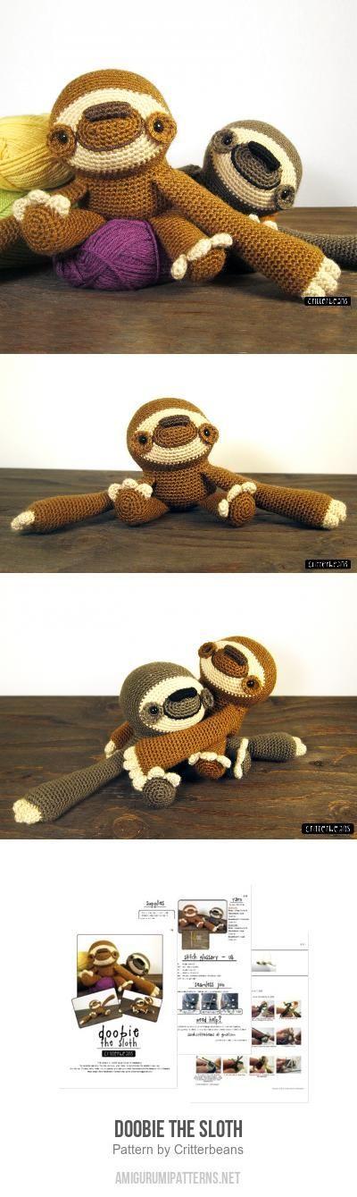 Doobie The Sloth Amigurumi Pattern