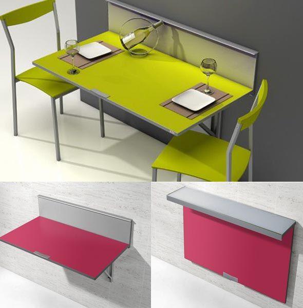 Mesas de cocina plegables extensibles modernas y baratas - Mesa abatible pared cocina ...