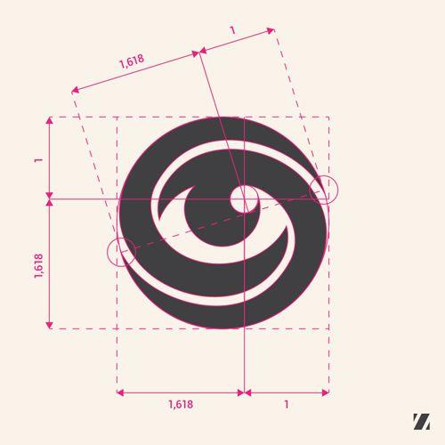 Golden rule applied on logo design. Eye of Mobius by Jan Zabransky.