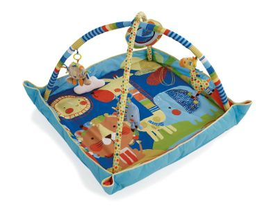 Morbido tappeto attività per far giocare il tuo bambino fin dai primi mesi. Con specchio, peluche e musica.