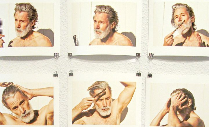 'Aiden Shaw', by Daniel Riera, 2012 (detail) from the New Modern Hair exhibition, Los Angeles