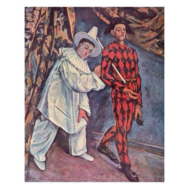 Картинки по запросу Поль Сезанн картина «Пьеро и Арлекин»