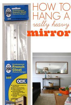 17 best ideas about hanging heavy mirror on pinterest for How hang heavy mirror
