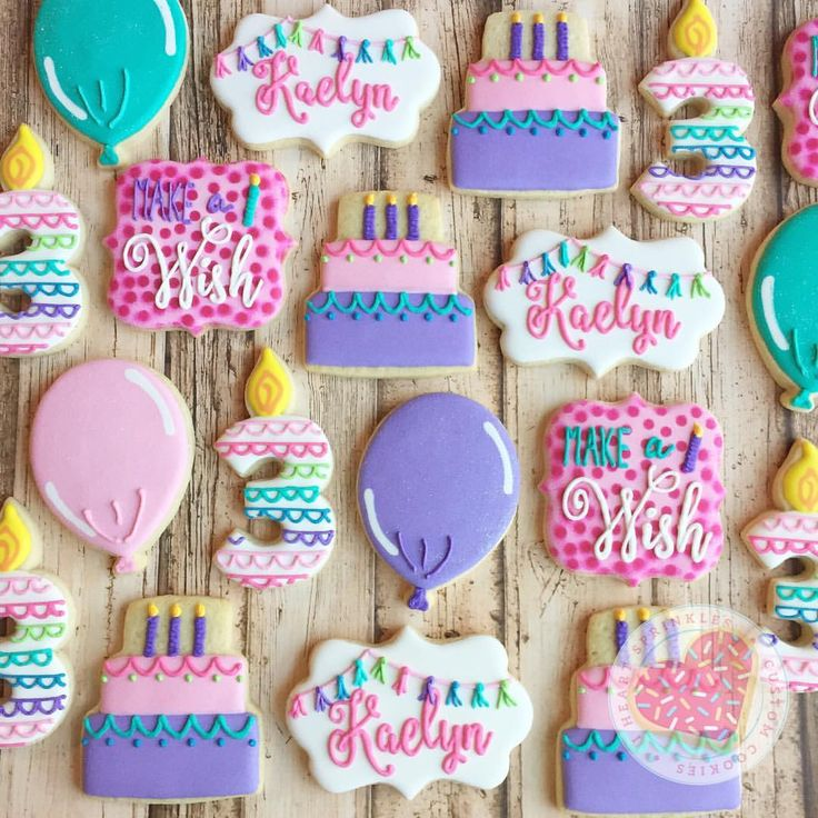 "17 Likes, 4 Comments - Amber Ives (@iheartsprinklescookies) on Instagram: ""Happy birthday, Kaelyn!! Set 1 of 3 being picked up today. #iheartsprinkles…"""