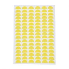 Yellow moon tea towel