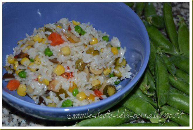 Le Ricette della Nonna: Insalata di riso vegan con sottaceti misti e pisel...