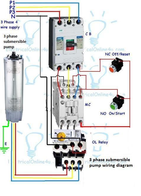 Pin By Sunil Dhakad On Sunil Submersible Pump Submersible Electrical Circuit Diagram