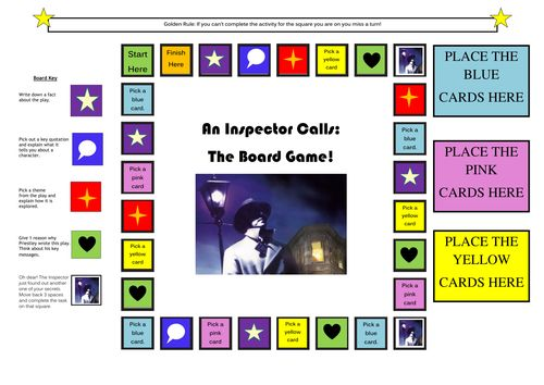 An Inspector Calls, by J. B. Priestley - FREE comprehensive resource on the play including PPT, handouts, and a board game!