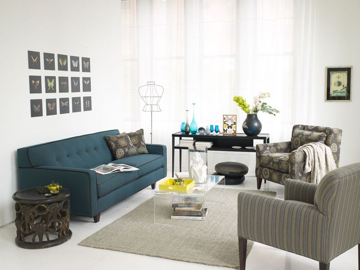 Modern Sectional Sofas Rowe Dorset Sofa with button tufted back