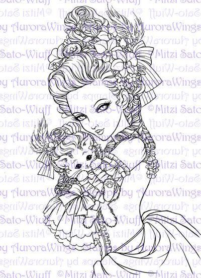 Coloring Book 2 Aurora Wings Fantasy Art Of Mitzi Sato
