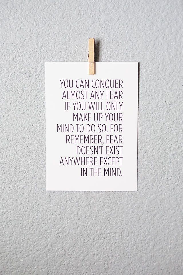 Free Inspirational Printable about Fear - All for the Boys