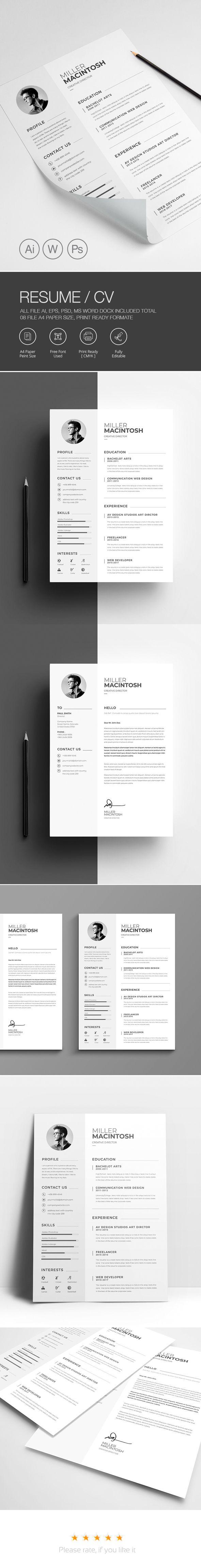 Minimal Creative Word Resume Template on Behance