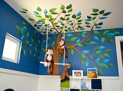 Kinderzimmer Kidsroom Baum Affen Dschungel