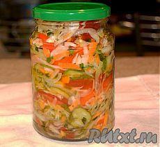 Рецепт овощного салата на зиму (рецепт с фото)   RUtxt.ru