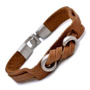 Brown Leather Cool Mens Bracelet
