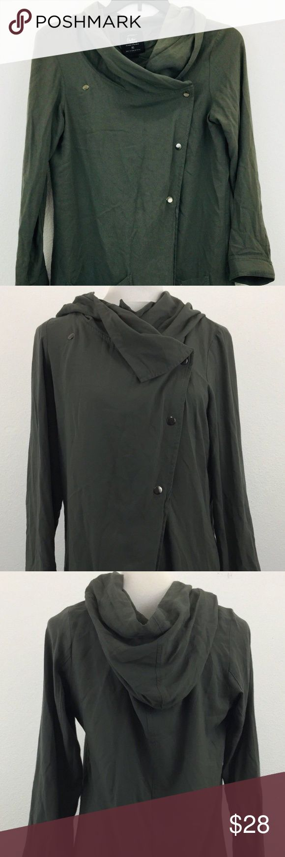 Cotton On Green Snap Close Jacket Hood Super Cute Cotton On Green Snap Close Jacket Hood Outerwear Designed in Australia Women XS Cotton On Jackets & Coats Capes