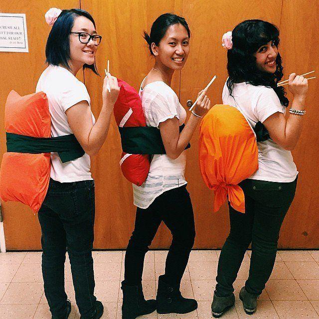 sushi sushi halloween costumegirl group - Group Diy Halloween Costumes