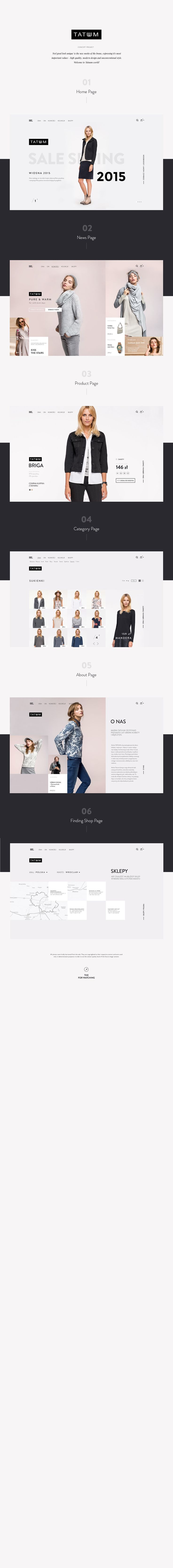 Concept web design  for Tatuum - high quality, modern design and unconventional…