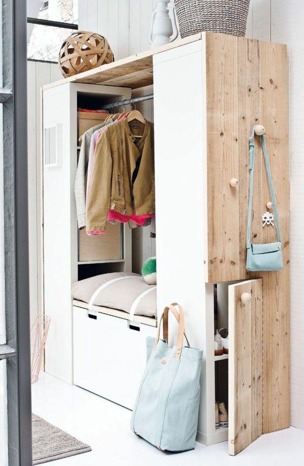 flurschrank bank aufbewahrungsraum kleider schuhe deko