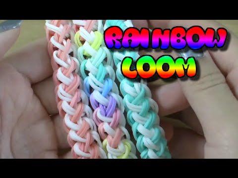 Плетение красивого и нежного браслета из резинок Rainbow Loom - YouTube