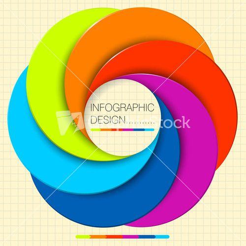 Paper Circle Vector Infographic Step By Step Flat Design Template