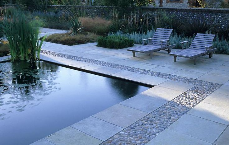 pool decking larger gunnite sections? with a pebble trim gives an upscale look.