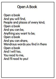 poems or rhymes about reading books - Google Search